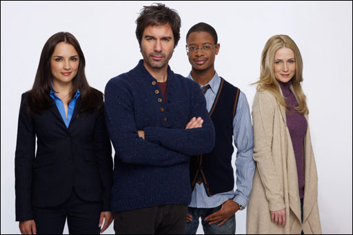 Photo Arjay Smith, Eric McCormack, Kelly Rowan, Rachael Leigh Cook