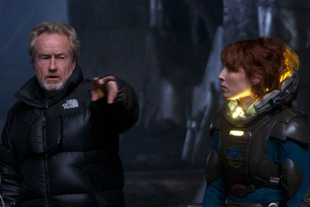 Prometheus : Photo Noomi Rapace, Ridley Scott