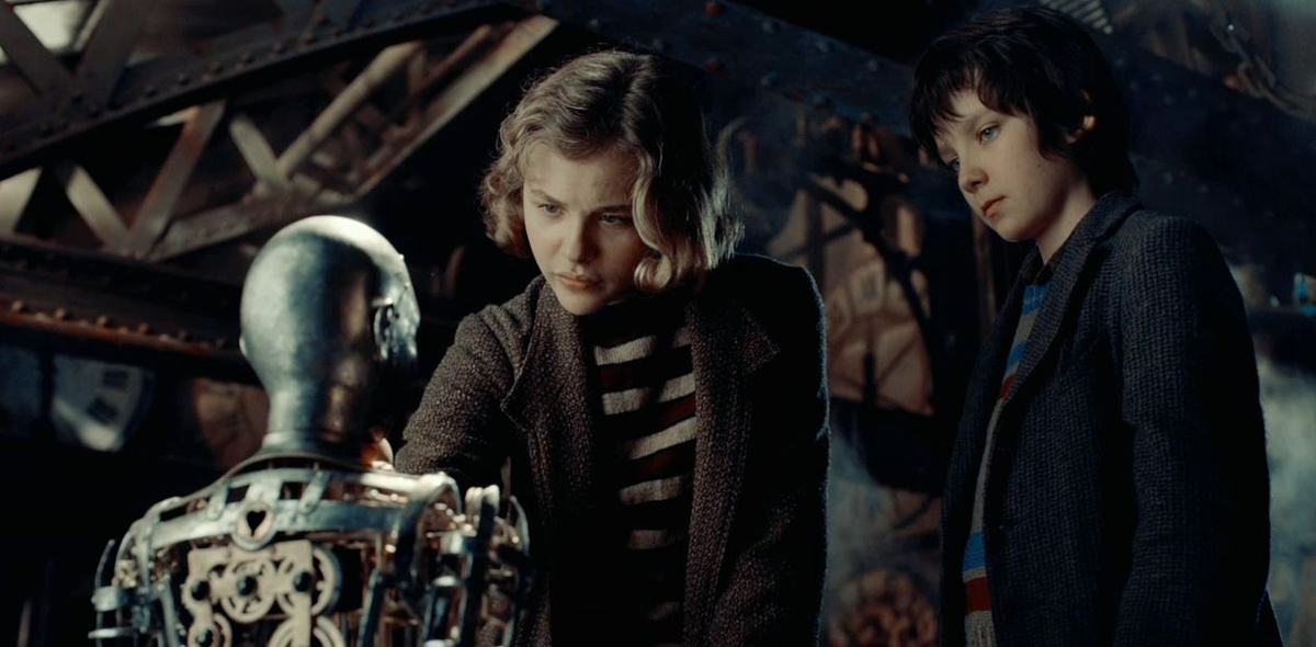 Hugo Cabret : Photo Asa Butterfield, Chloë Grace Moretz, Martin Scorsese