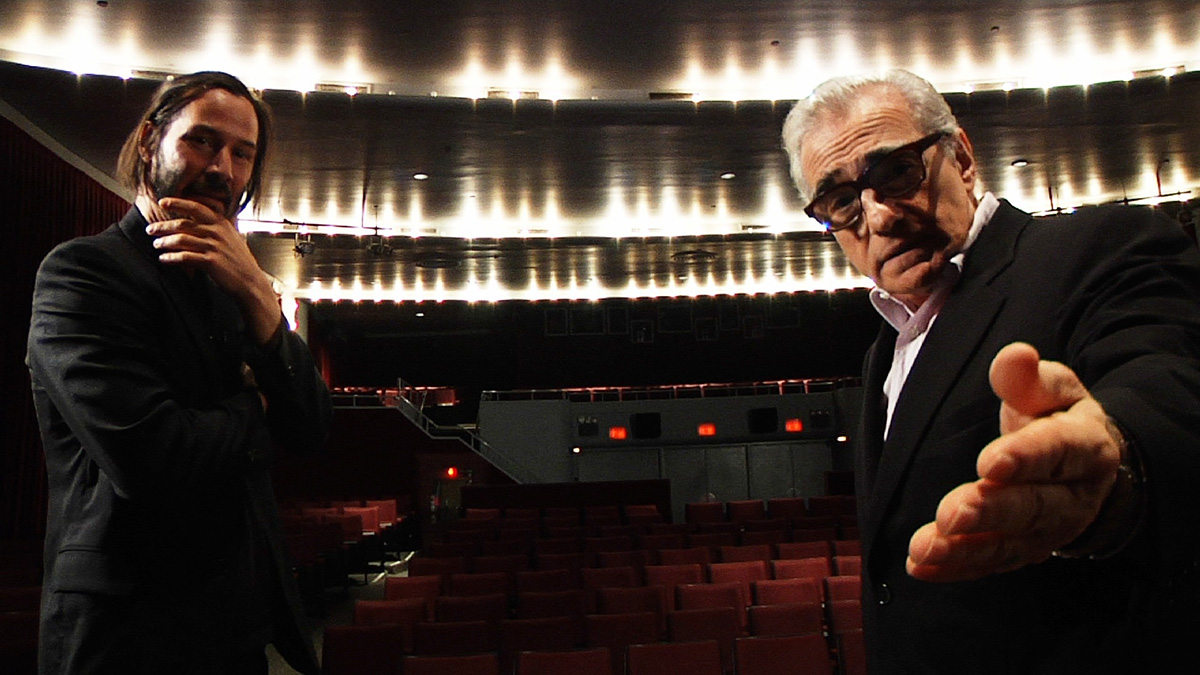 Side by Side : Photo Keanu Reeves, Martin Scorsese