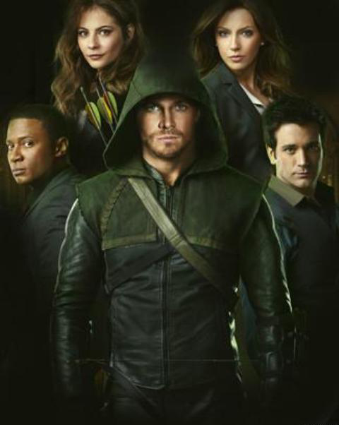 Photo Colin Donnell, David Ramsey, Katie Cassidy, Stephen Amell, Willa Holland