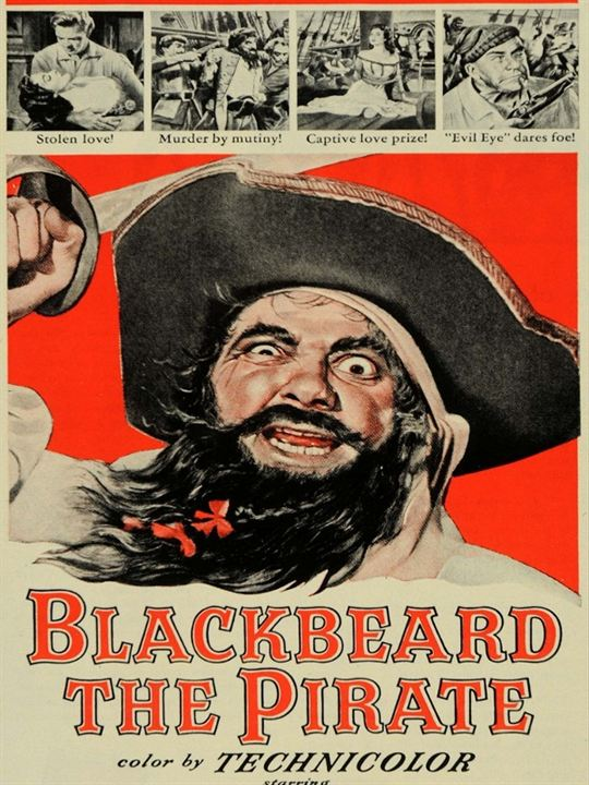 Barbe-Noire le pirate : Affiche