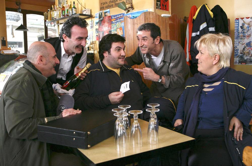 Photo Jean-Bernard Feitussi, Jean-Pierre Becker, Laurent Ournac, Mimie Mathy, Pascal Sellem