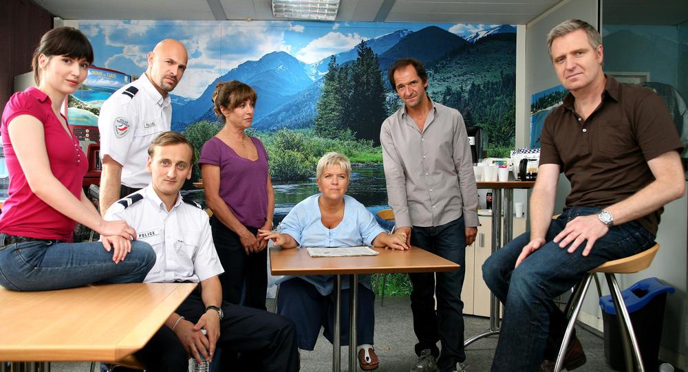 Photo Alban Casterman, Guy Amram, Marie Vincent, Mimie Mathy, Sandra Valentin