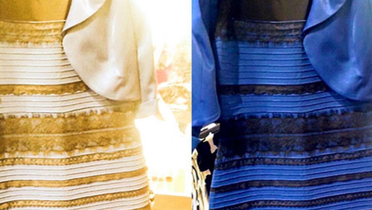 Robe bleu noir ou blanc or