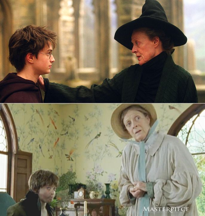 Daniel Radcliffe et Maggie Smith