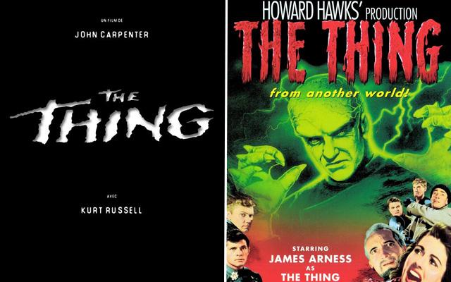 """""""The Thing"""" est le remake de... """"La Chose d'un autre monde"""""""