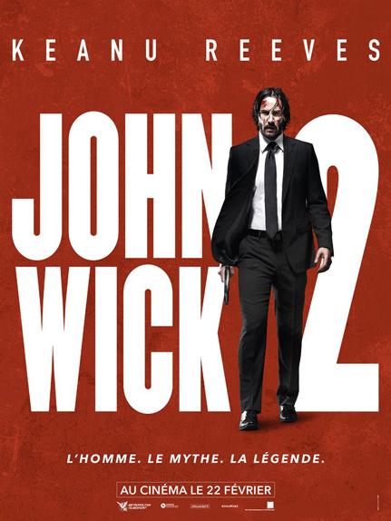 N°3 - John Wick 2 : 9 millions de dollars de recettes