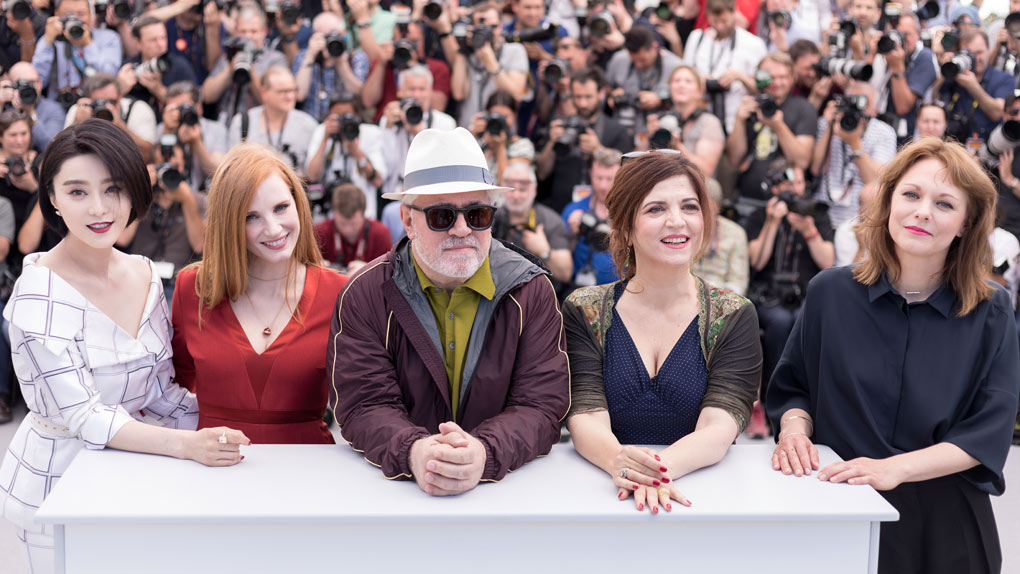 Fan Bingbing, Jessica Chastain, Pedro Almodovar, Agnès Jaoui et Maren Ade