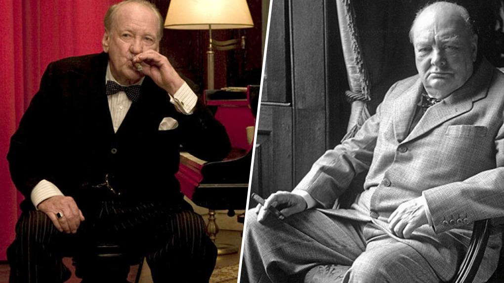 """Rod Taylor (gauche) dans le film """"Inglourious Basterds"""" (2009)"""