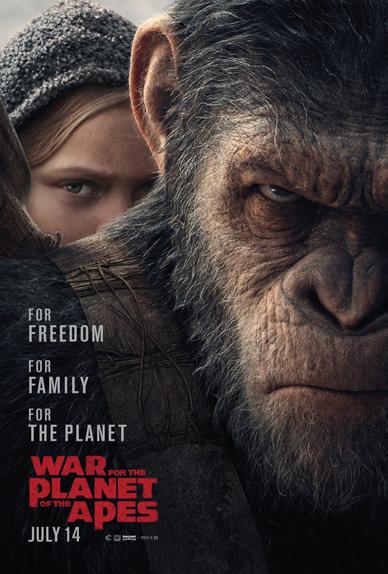 L'affiche américaine du film La Planète des Singes - Suprématie