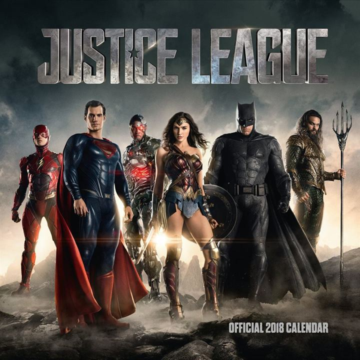 Justice League, le calendrier : recto...