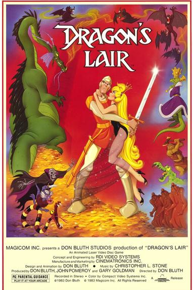 """Une affiche originale du jeu """"Dragon's Lair"""" de 1983"""