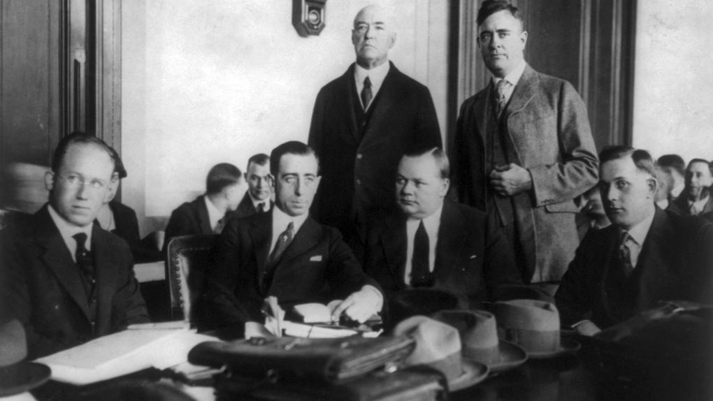Fatty Arbuckle lors de son premier procès.