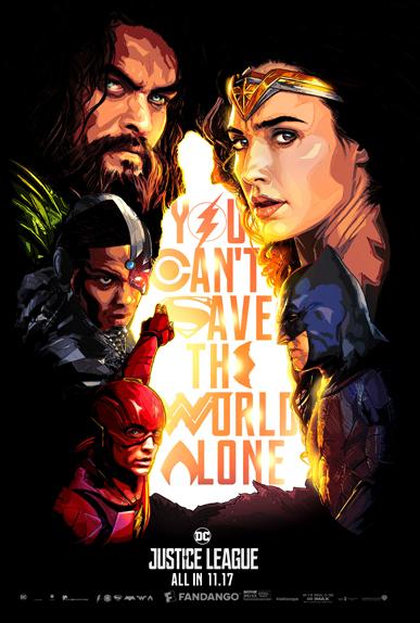 La Justice League s'affiche pour Fandango