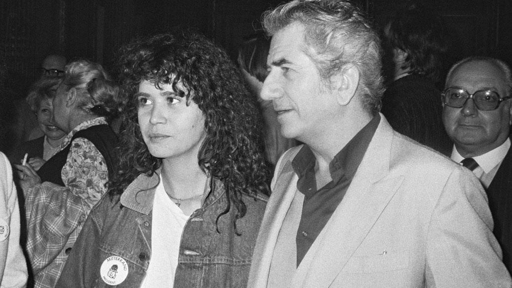 Maria Schneider, avec son père, le comédien Daniel Gélin, en 1981