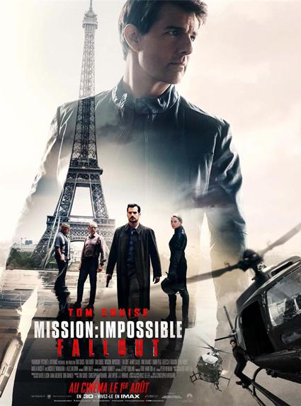 N°3 - Mission Impossible Fallout : 7 millions de dollars de recettes