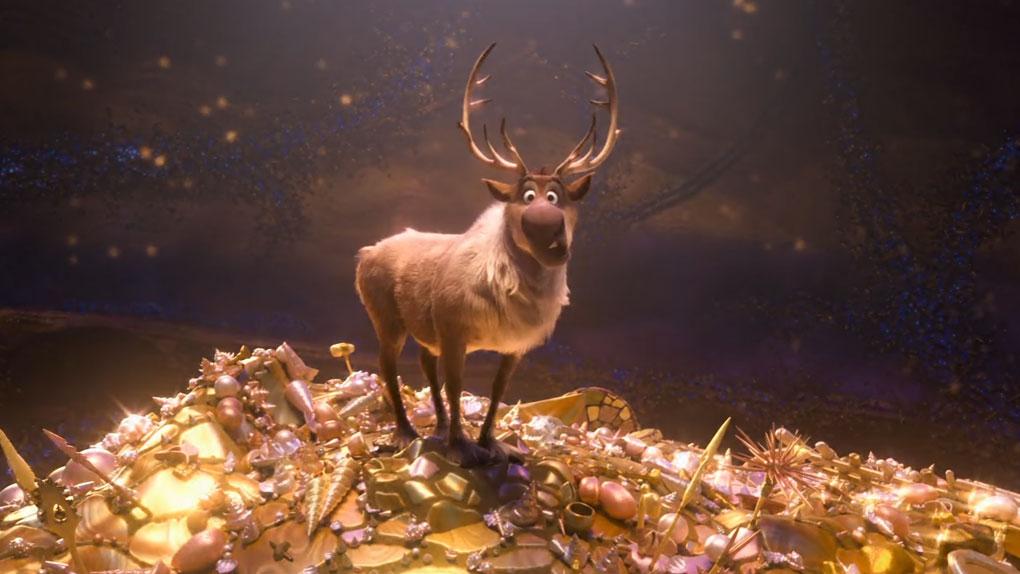 """Sven, le renne de Kristoff dans """"La Reine des neiges""""..."""
