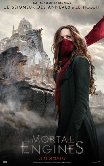 Mortal Engines avec Hera Hilmar, Hugo Weaving...