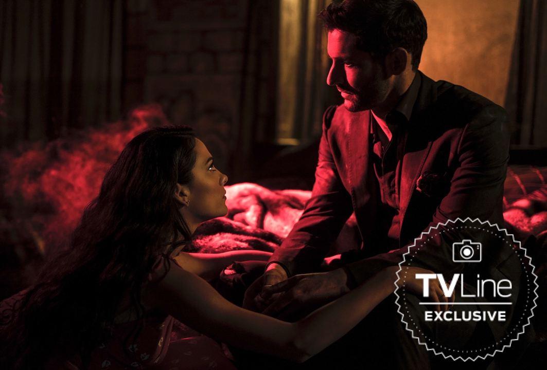 Lucifer (Tom Ellis) et Eve (Inbar Lavi) dans la saison 4 de Lucifer
