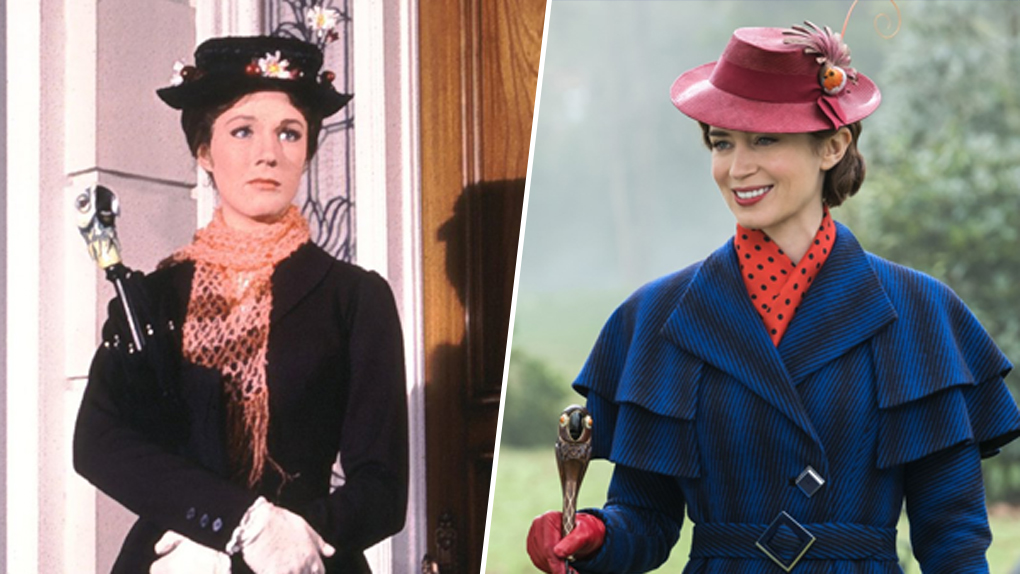 Mary Poppins : Julie Andrews (1964) / Emily Blunt (2018)
