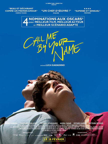 10ème : Call Me By Your Name - 4.33/5