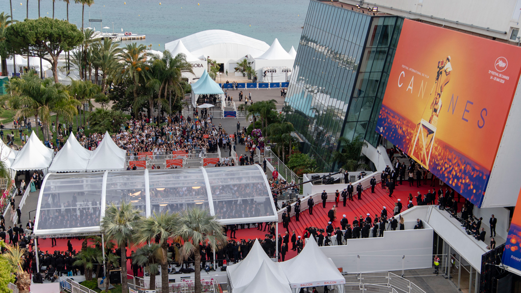 La Croisette à l'heure du Festival de Cannes