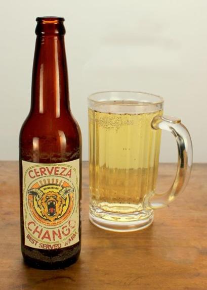 """Où apparaît la marque de bière """"Chango"""" ? (réponse page suivante)"""