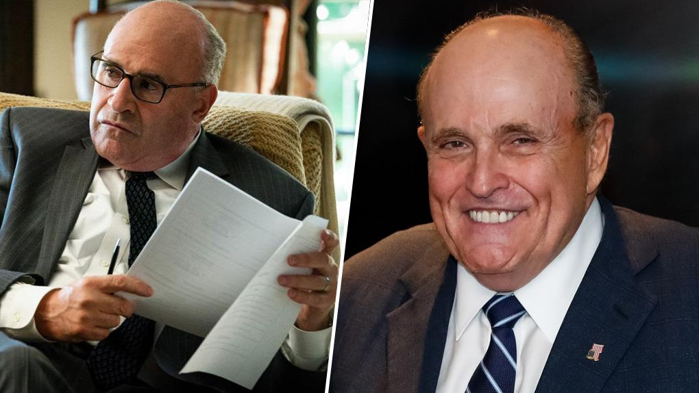 Richard Kind (à gauche) et Rudy Giuliani (à droite)