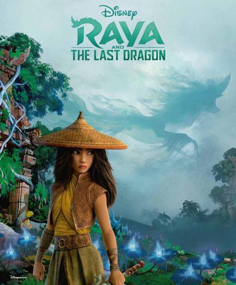 Raya et le dernier dragon avec les voix de Cassie Steele et Awkwafina