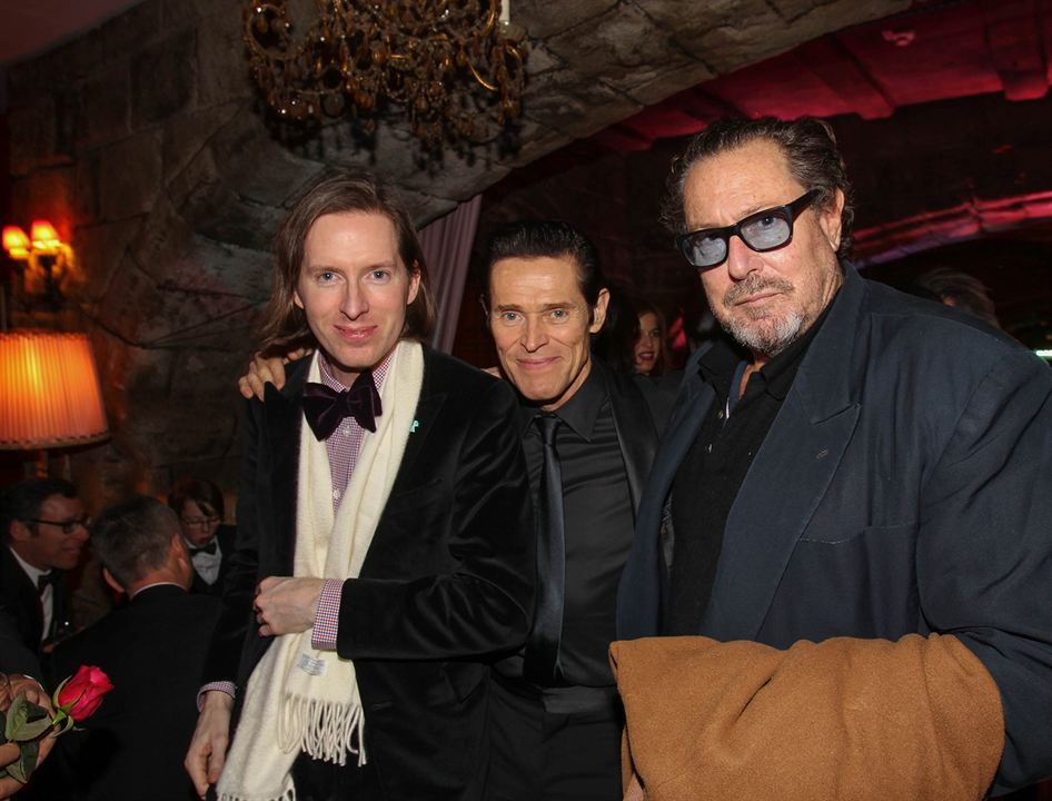 The Grand Budapest Hotel : Photo promotionnelle Julian Schnabel, Wes Anderson, Willem Dafoe