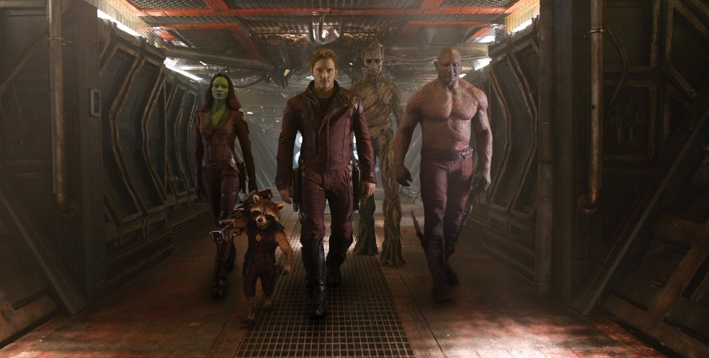 Les Gardiens de la Galaxie : Photo Chris Pratt, Dave Bautista, Zoe Saldana