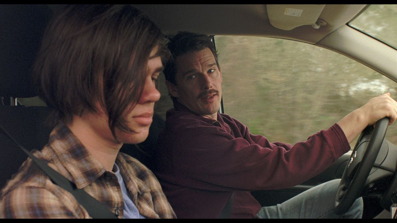 Boyhood : Photo Ellar Coltrane, Ethan Hawke