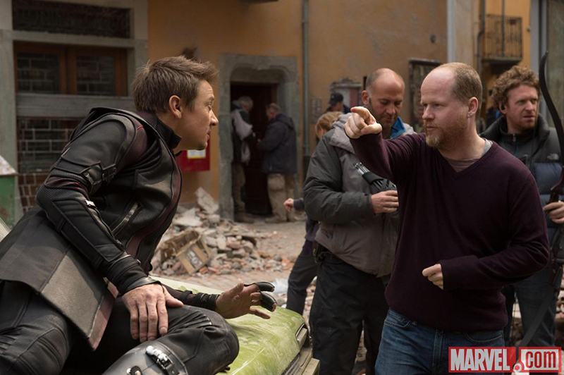 Avengers : L'ère d'Ultron : Photo Jeremy Renner, Joss Whedon