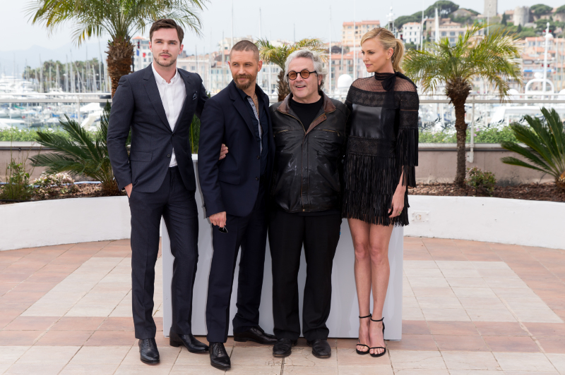 Mad Max: Fury Road : Photo promotionnelle Charlize Theron, George Miller, Nicholas Hoult, Tom Hardy