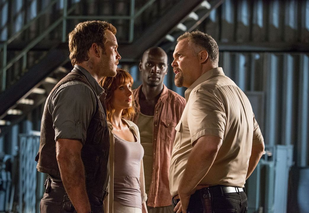Jurassic World : Photo Bryce Dallas Howard, Chris Pratt, Omar Sy, Vincent D'Onofrio