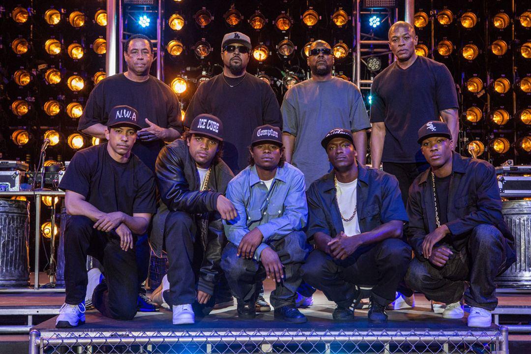 N.W.A - Straight Outta Compton : Photo Aldis Hodge, Corey Hawkins, Dr. Dre, Ice Cube, Jason Mitchell