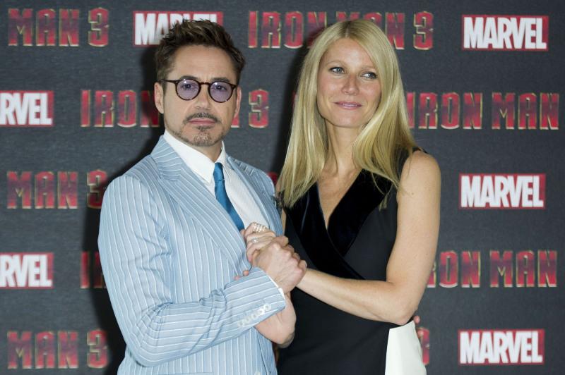 Iron Man 3 : Photo promotionnelle Gwyneth Paltrow, Robert Downey Jr.
