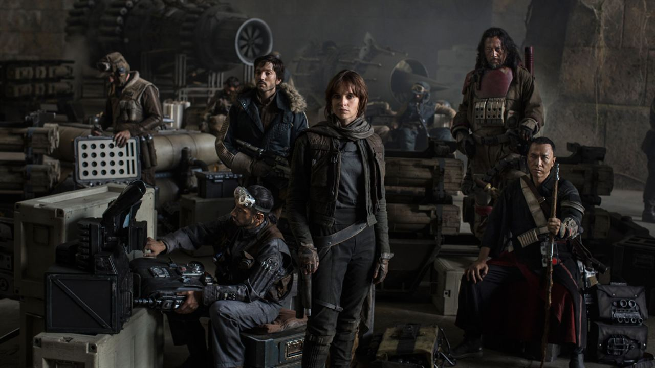 Rogue One: A Star Wars Story : Photo Diego Luna, Donnie Yen, Felicity Jones, Jiang Wen, Riz Ahmed