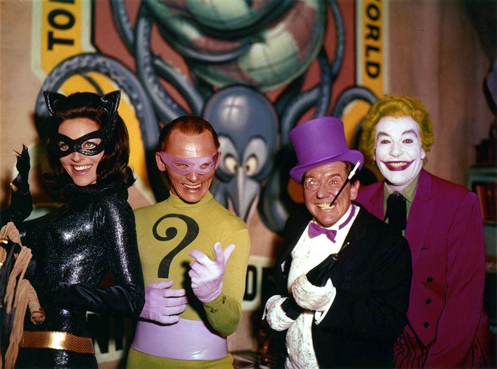 Batman : Photo Burgess Meredith, Cesar Romero, Frank Gorshin, Lee Meriwether
