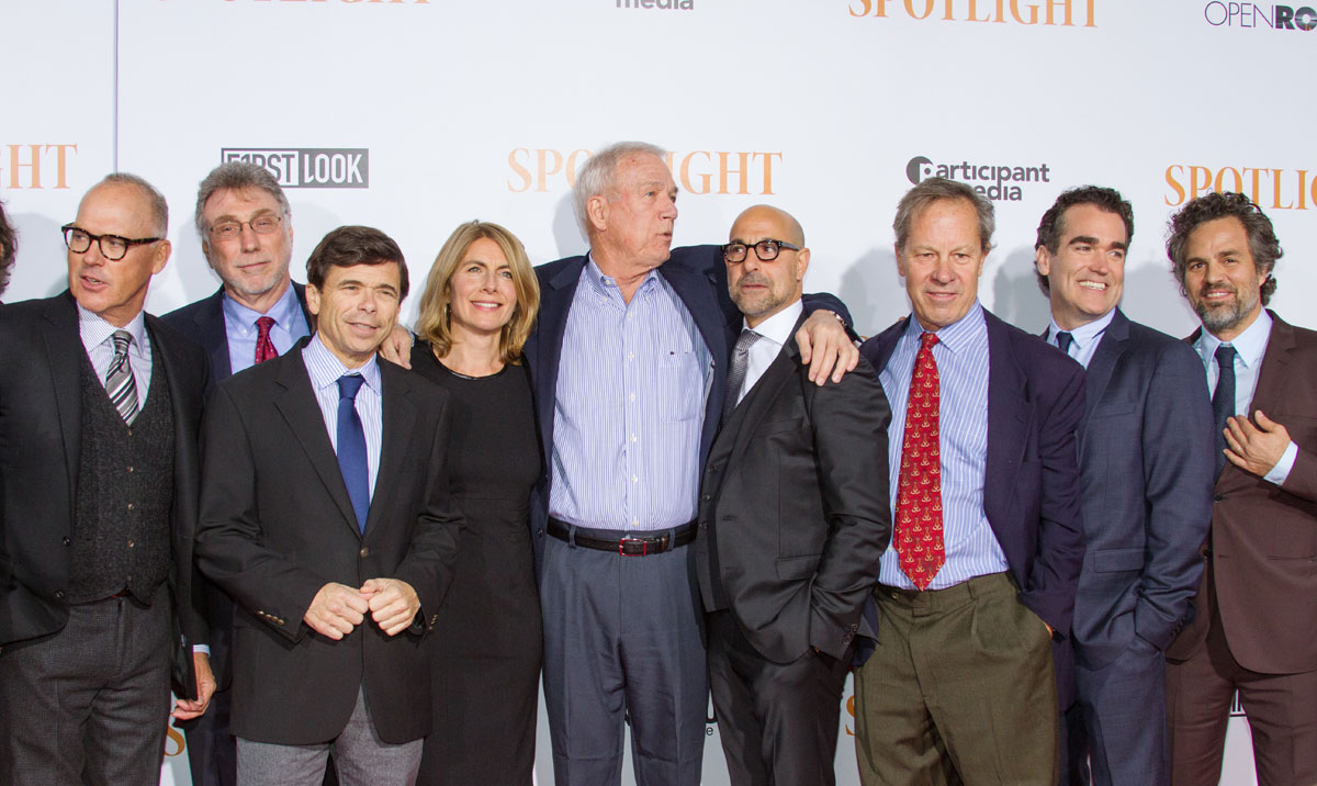 Spotlight : Photo promotionnelle Brian d'Arcy James, Mark Ruffalo, Michael Keaton, Stanley Tucci