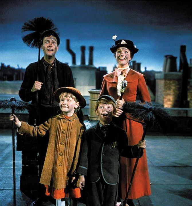 Mary Poppins : Photo Dick Van Dyke, Julie Andrews, Karen Dotrice, Matthew Garber