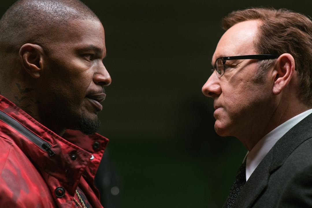 Baby Driver : Photo Jamie Foxx, Kevin Spacey