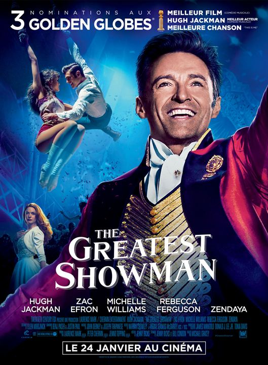 affiche du film the greatest showman affiche 1 sur 8 allocin. Black Bedroom Furniture Sets. Home Design Ideas