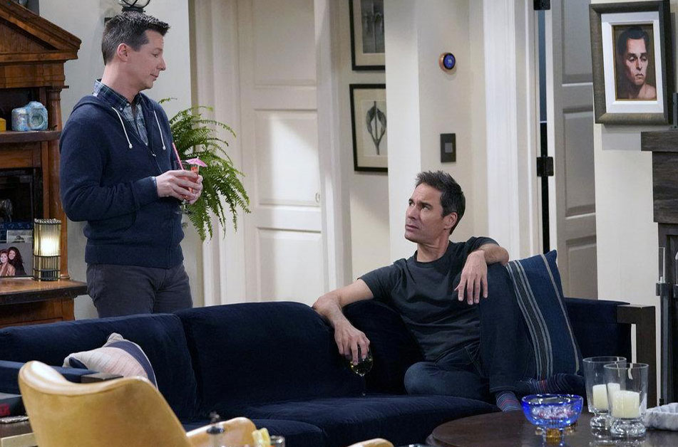Photo Eric McCormack, Sean Hayes