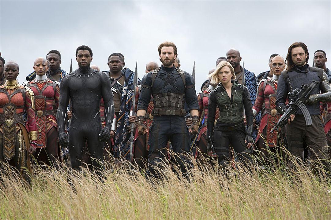 Avengers: Infinity War : Photo Chadwick Boseman, Chris Evans, Danai Gurira, Scarlett Johansson, Sebastian Stan