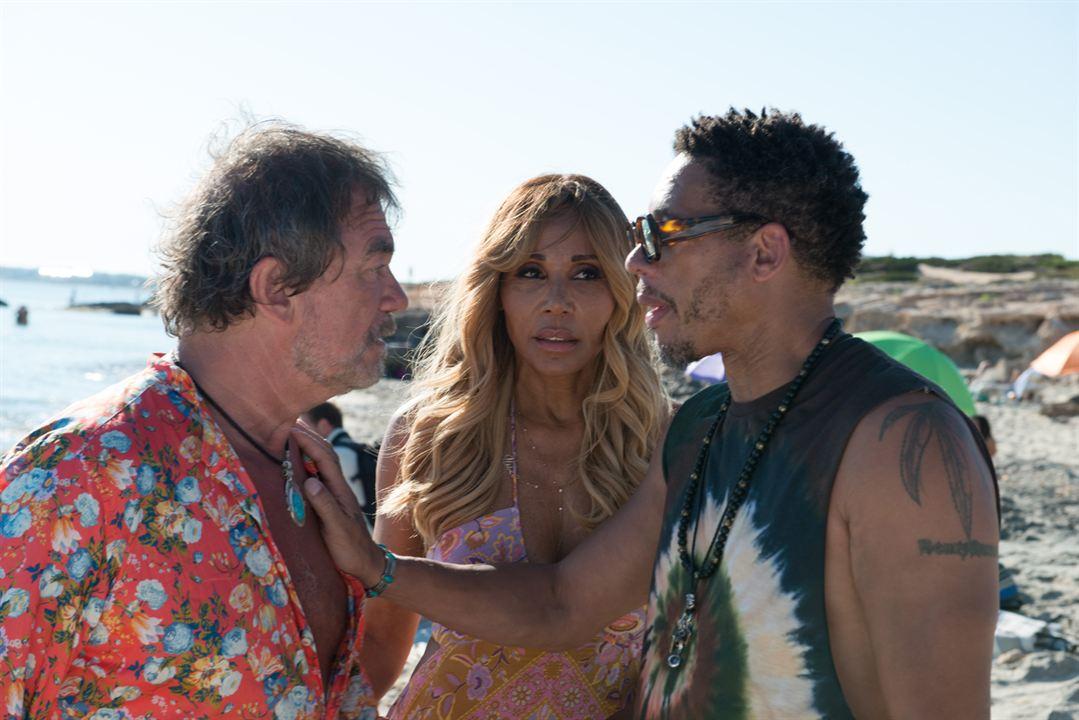 Ibiza : Photo Cathy Guetta, JoeyStarr, Olivier Marchal