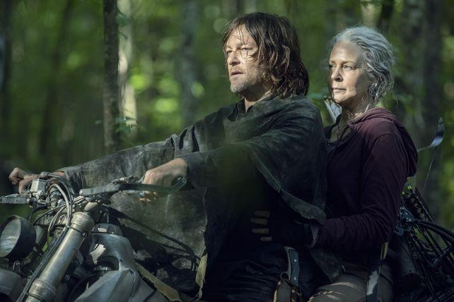 Photo Melissa McBride, Norman Reedus