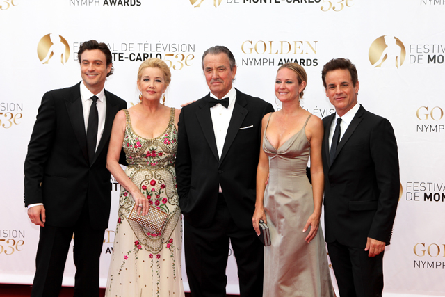 Photo Christian LeBlanc, Daniel Goddard, Eric Braeden, Melody Thomas Scott, Sharon Case