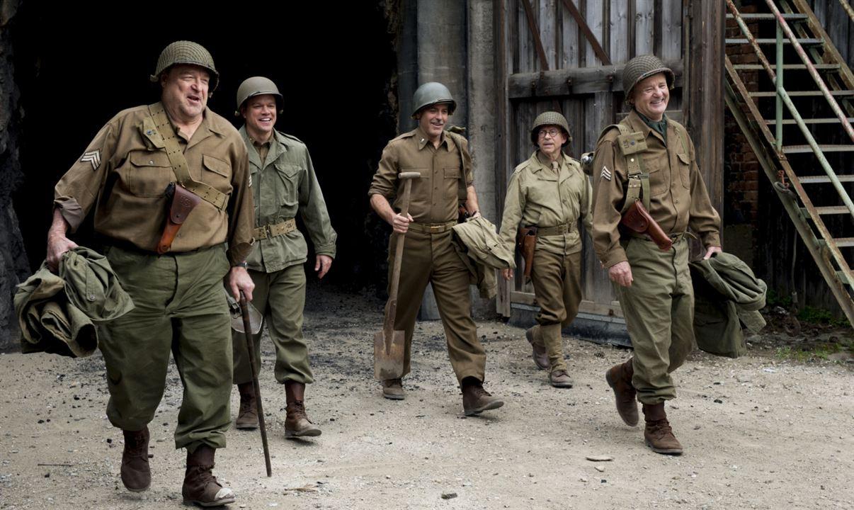 Monuments Men : Photo Bill Murray, Bob Balaban, George Clooney, John Goodman, Matt Damon